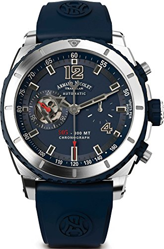Armand Nicolet S05 Men 'S Watch -3 Chronograph Analogue Automatic A714AGU BU GG4710U