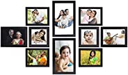 Amazon Brand - Solimo Collage Photo Frames, Set of 10,Wall Hanging (4 pcs - 4x6 inch, 2 pcs - 5x7 inch, 2 pcs