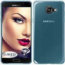 mtb more energy® Funda Clear & Slim para Samsung Galaxy A5 2016 (SM-A510, 5.2'')   transp.-azul   flexible   delgada   Gel TPU Silicona Carcasa Suave Cascara