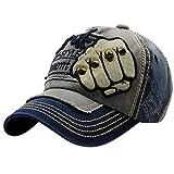UFACE Stickerei-Buchstabe-Faust-Niet-Baseballmütze-Visier Sommer-Niet-Kappen-Hüte für Männer Frauen (Blau)