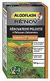 ALGOFLASH Mélange Engrais + Semences pour rénovation pelouse, 1.2 kg, RENOV50