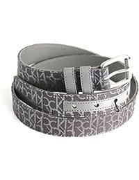Calvin Klein ceinture femmes tissu jacquard avec logo gris foncé 95