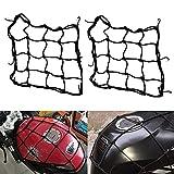 ZHIXX MALL 2PCS Motorrad Gepäcknetz Fahrrad Netz Helmnetz mit 6 Befestigungshaken,Gummizug Dehnbar...