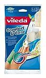 Vileda Comfort & Care Gummihandschuhe mit Kamille Lotion - Größe S (Klein) - 1 Paar