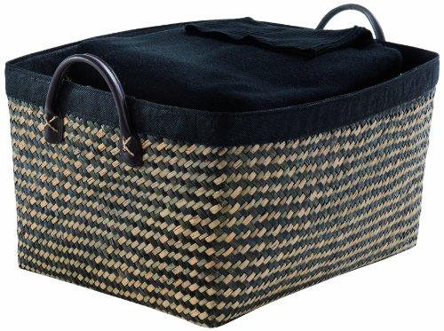 Rangement & cie ran6540 - cestino padang in giunco intrecciato, misura piccola, marrone/nero