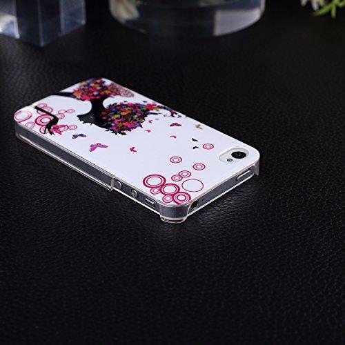 iPhone Case Cover IPhone 4S, Noir Ange Papillon Vélo Fleur Couleur Patter dur Housse pour iPhone 4S ( Color : Angel With Butterfly ) Angel With Butterfly