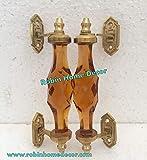 Robin Exports - Tirador de Puerta de Cristal de latón Estilo Victoriano para decoración...