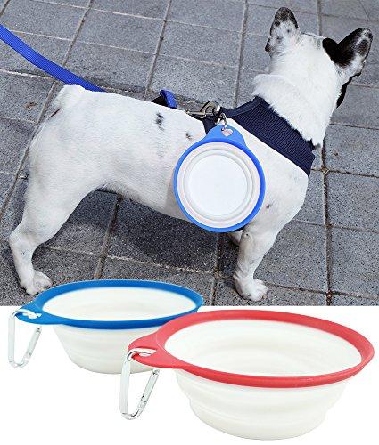 BPS® 2X Comedero / Bebedero para Perros Gatos Mascotas de Viaje Portátil...