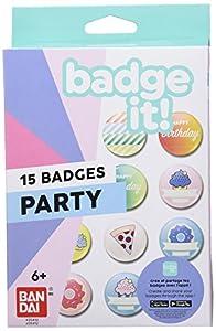Bandai Recharge Badge It ! Party - Adornos para Ropa (Blanco, 15 Pieza(s), Caja)