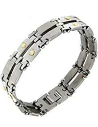 78565569103b TENDENZE Bracelet pour homme, acier et or 18 carat directement de l usine  italienne