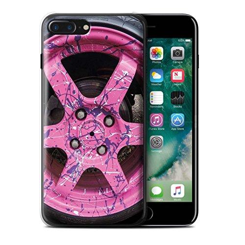 Stuff4 Hülle / Case für Apple iPhone 7 Plus / Rosa/Lila Muster / Leichtmetallfelgen Kollektion Rosa/Lila