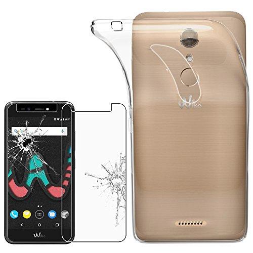 ebestStar - Wiko Upulse Lite Hülle Handyhülle [Ultra Dünn], Durchsichtige Klar Flex Silikon Schutzhülle, Transparent + Panzerglas Schutzfolie [Phone: 144 x 72 x 8.4mm, 5.2'']