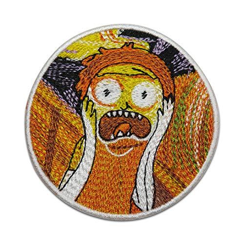 Finally Home Rick and Morty Scream Patch zum Aufnähen   Aufnäher Patches Sanchez Tasche
