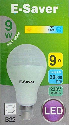 e-saver-led-9w-80-watt-a60-globe-cool-white-4200k-bayonet-cap-bc-b22-b22d-850-lumen-90-energy-saving