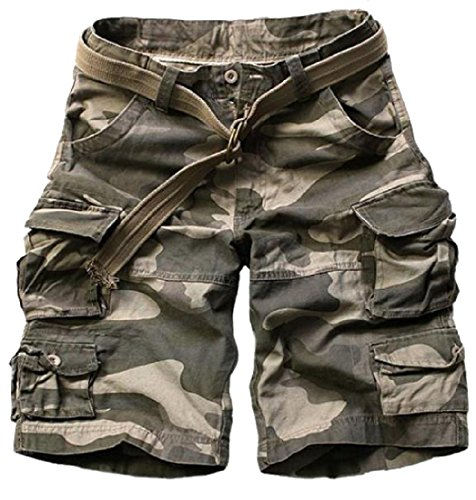 CuteRose Men's Pocket Vogue Casual Leisure Retro Classic Cargo Shorts Pants XS 2 - Denim-zwei-pocket-shorts