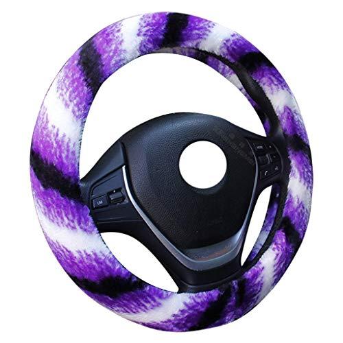 Preisvergleich Produktbild XUEYAN Warmer Lenkrad-Abdeckungs-38cm weicher Vlies-Beleg / tragen beständig / Auto-Griff-Griff-Auto-Innenraum (Farbe : B,  größe : 38cm / 14.96inch)