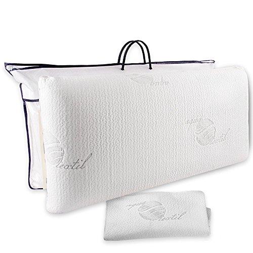 aqua-textil Cadiz Viscokissen 70x36x15 cm Visco Kopfkissen orthopädisches Kissen Gelschaum Nackenkissen
