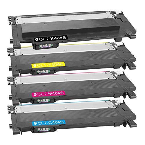 DASKOO CLT-K/C/M/Y404S 4 Toner kompatibel für Samsung Xpress SL-C430/XSS, SL-C430W/XSS, SL-C480/XSS, SL-C480W/XSS, SL-C480FW/XSS (4-Color)