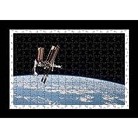 Puzzle Style (pre-assemblata) Wall print di Nave spaziale Iss mondo