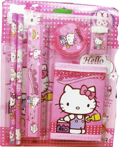 hello-kitty-wallet-and-stationary-set-6-pieces-plus-free-hello-kitty-badge