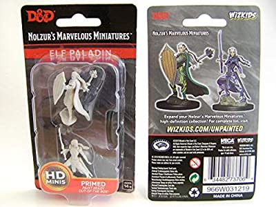 WizKids D&D Nolzur's Marvelous Miniatures Unpainted Miniatures Female Elf Paladin Case (