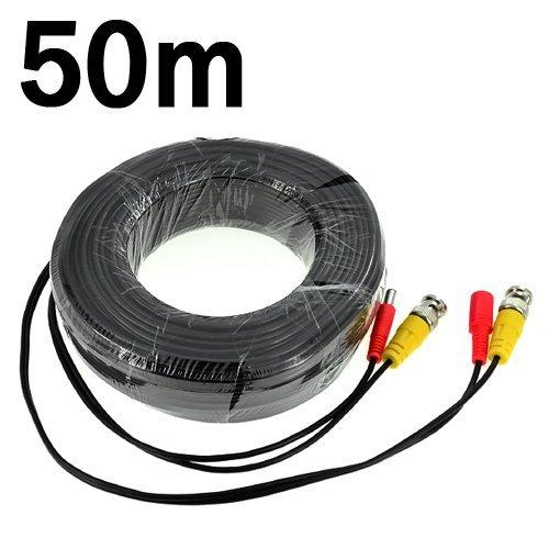 Video-Kabel für CCTV Überwachungskameras (BNC Männlich und Netzteil) -