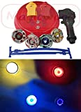 Magicwand 4 Big Metal Beyblades With Led Lights, 2 Launchers, 1 Stadium, 2
