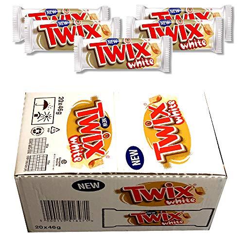 Full Box of New TWIX White Standard Single BAR 20 x 46 g Christmas Chocolates