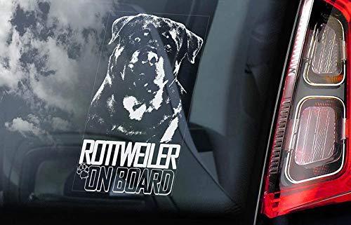 CELYCASY V05 Auto-Aufkleber, Rottweiler on Board, Rottie Vorsicht des Hundes -