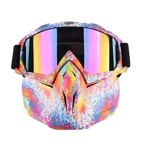 Gnzoe PC Radsportbrille Maske Motorradbrillen Outdoor Schutz Brille Schutzbrillen Radsportbrille...