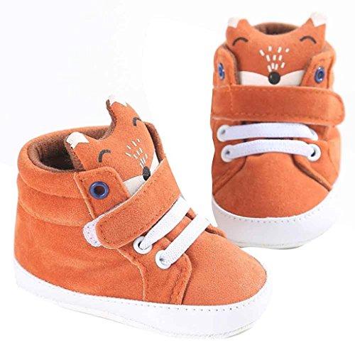 Kleine Babyjunge Fuchs High Cut Schuhe,URSING Kleinkind Anti-Rutsch Weiche Sohle Sneaker (11, Orange)