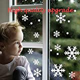 Raycity 48pcs Set of 4 Christmas Window Snow Snowflake Decals Clings Home Party Decoration Decor Not Reusable