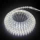 Forever Speed 3m LED Streifen Strip Aussen Lichterkette Kaltweiß Außen/Innen 6500K 3528 SMD IP65 230V 43.2W 60 LEDs/M mit Wasserdicht Stecker