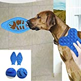 HHF-Pets Forniture Pet Bowl Feed Dish, Cane da Bagno Distraction Toys Food Lick Pad Slow Food Feeder