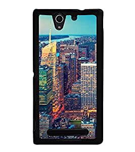 ifasho Designer Back Case Cover for Sony Xperia C3 Dual :: Sony Xperia C3 Dual D2502 (Cities Xian China Varanasi)
