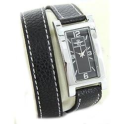 Michael John Damen-Belle zeigt Damen Leder schwarz double-bracelet Michael John 2227
