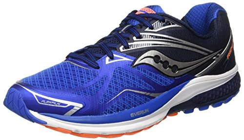 Saucony Ride 9, Scarpe Running Uomo, Blu (Grey/Blue/Orange), 41 EU