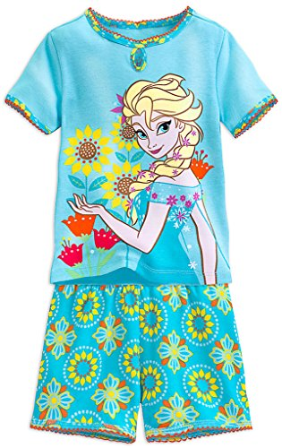 Disney Shop Gefrorene ELSA Big Girls PJ PALS Kurzes Set Gr??e 7 Medium - Schuhe Gefrorene Disney