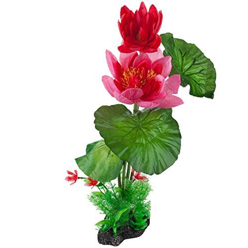 DIGIFLEX Fior di loto rosa, pianta decorativa per acquario