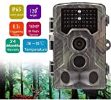 Flybiz Cámara de Caza 16MP 1080P, HD Trail Cámara con Visión Nocturna Impermeable con PIR Infrarrojo Sensor de Movimiento 42 Pcs IR Leds, 20 m visión Nocturna Impermeable IP65 Vigilancia