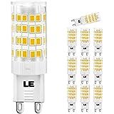 LE Lampadine LED da 5W G9 , Pari Alogena da 50W, Bianco Caldo, 10 Pezzi