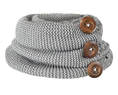 Bufanda Mujer, Youson Girl® Círculo Bufandas Mujeres invierno cálido dos botones de cable del círculo...