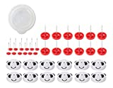 PANDA SUPERSTORE 12 Stück Panda Schnallen/Rutschfeste Fixer Pins Set Home Removable Sofa Bettwäsche Schnallen