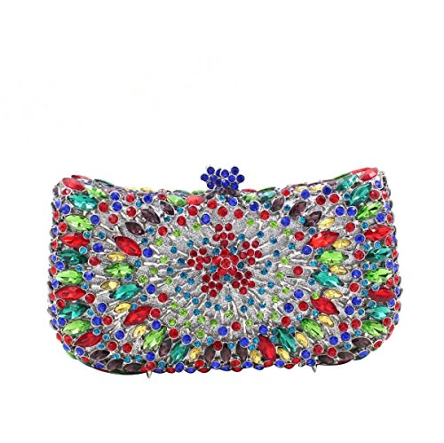 OneColor Tasche Kristall Abendtasche Diamant Luxus End High Bankett Damen q0wg48A