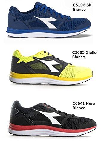Diadora , Herren Sneaker C5196-BLU-BIANCO