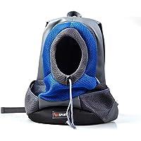 KERVINZHANG Mochila para Mascotas Bolsa para Perros Bolsa Multifuncional para Mascotas Bolsa Plegable para Mascotas Excursión (Color : Blue, Size : M)