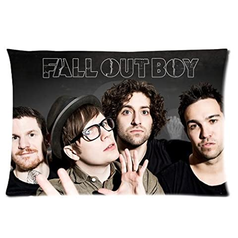Generic Personalized Chicago Rock Band Fall Out Boy Group Close Up Sold By Too Amazing Rectangle Pillowcase 24x16 inches (one side)