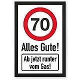 DankeDir! 70 Jahre Alles Gute - Runter vom Gas - Geschenk 70. Geburtstag, Geschenkidee Geburtstagsgeschenk Siebzigsten, Geburtstagsdeko/Partydeko / Party Zubehör/Geburtstagskarte