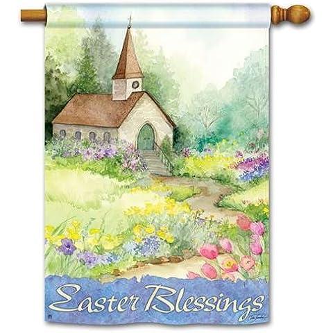 Blessings de Pascua estándar flag-two Cara