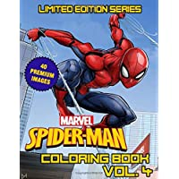 Marvel Spider Man Coloring Book: Limited Edition Series - Vol. 4 -Superheroes Avenger Team Coloring Books For Kids, Boys , Girls , Fans , Adults